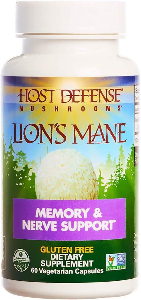 Lions mane mushroom supplement memory and nerve support