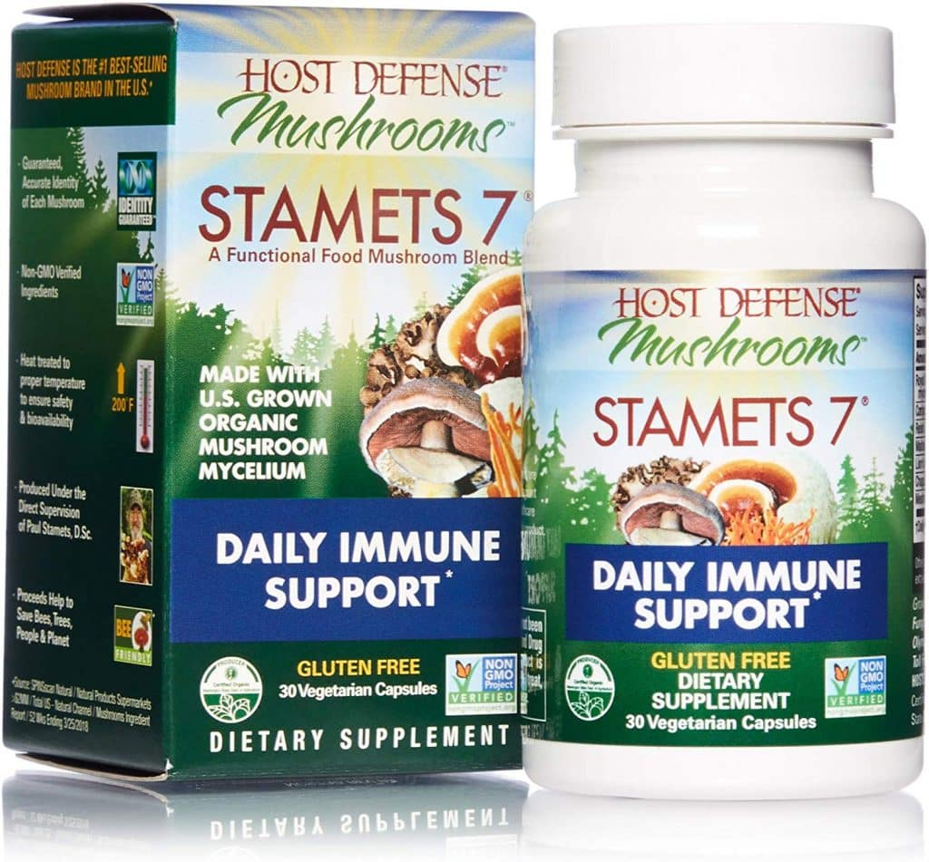 stamet 7 mushrooms daily immune support supplement