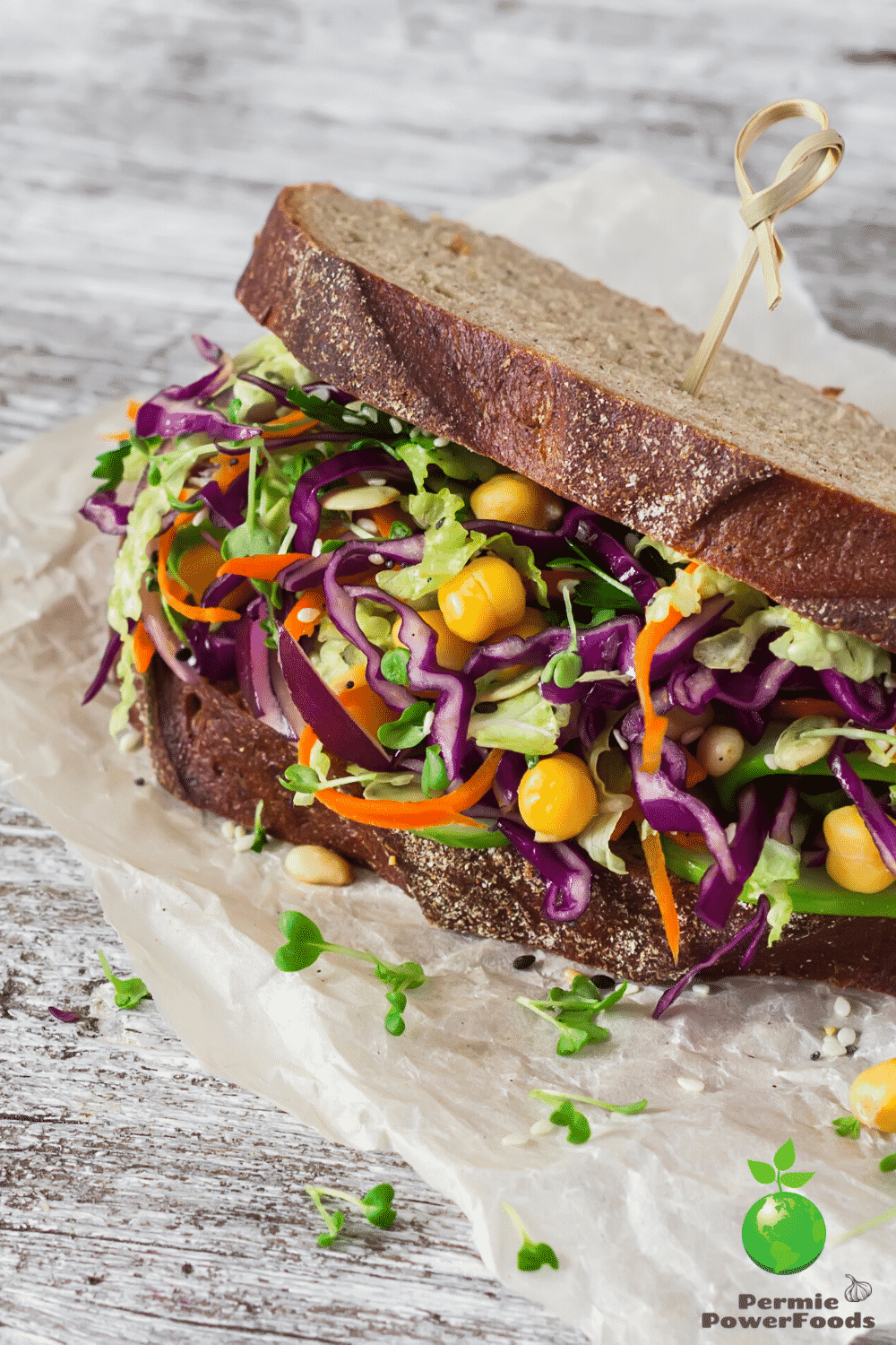 microgreens on a sandwich, sprouted vegetables